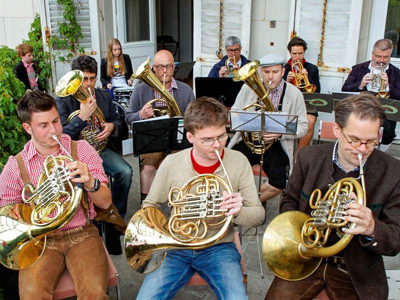 Ohne die Blasmusik von BÄO Böhmisch wäre das Bayerische Fest nicht denkbar.