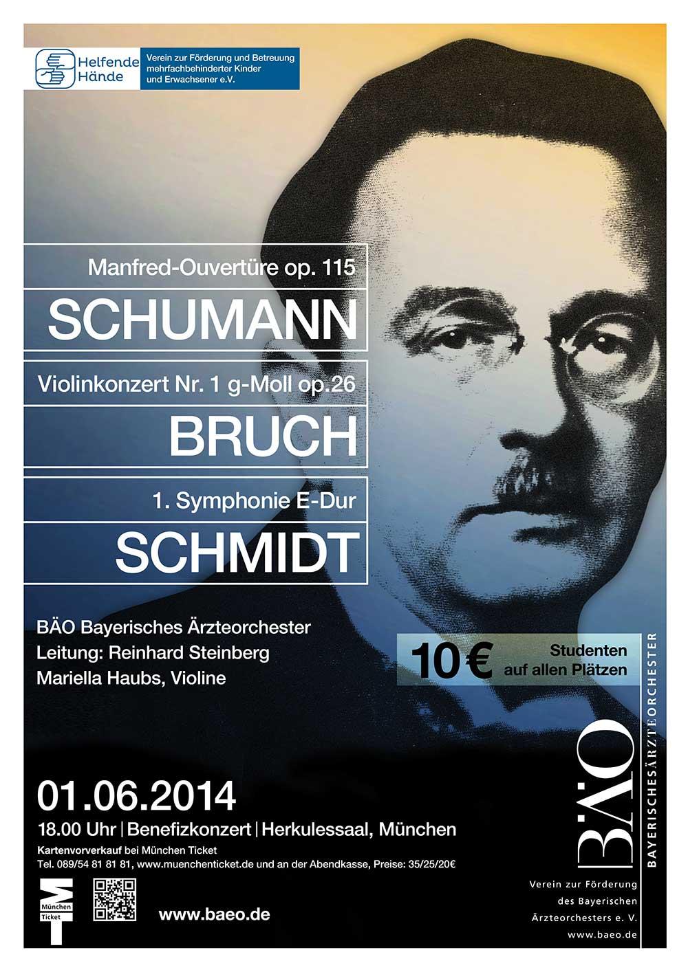 Plakat Bayerisches Ärzteorchester 2014