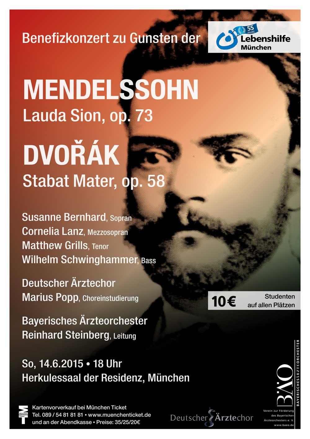 Plakat Bayerisches Ärzteorchester 2015