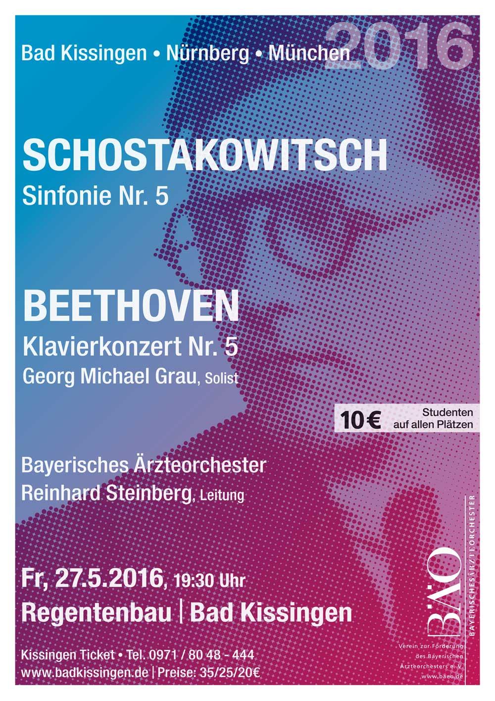 Plakat Bayerisches Ärzteorchester 2016