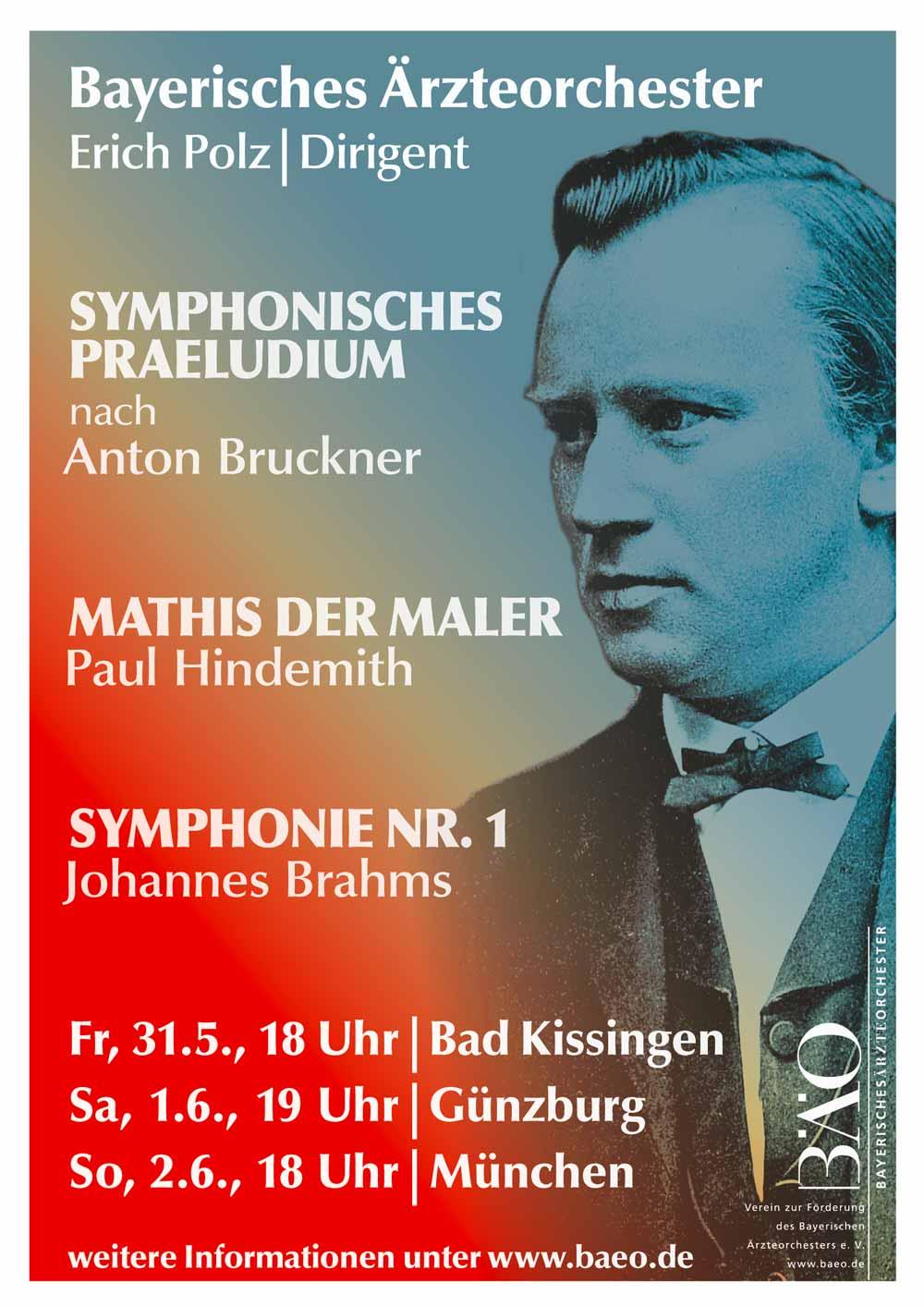 Plakat Bayerisches Ärzteorchester 2019